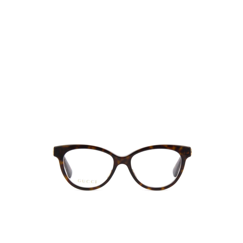Gucci® Cat-eye Eyeglasses: GG0373O color Havana 002.