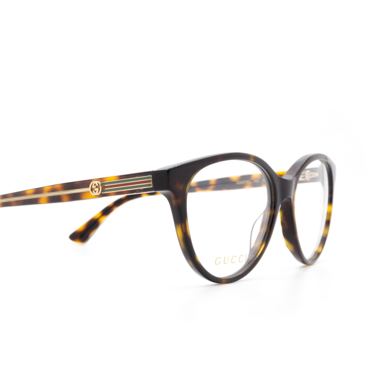 Gucci® Round Eyeglasses: GG0379O color Havana 002.