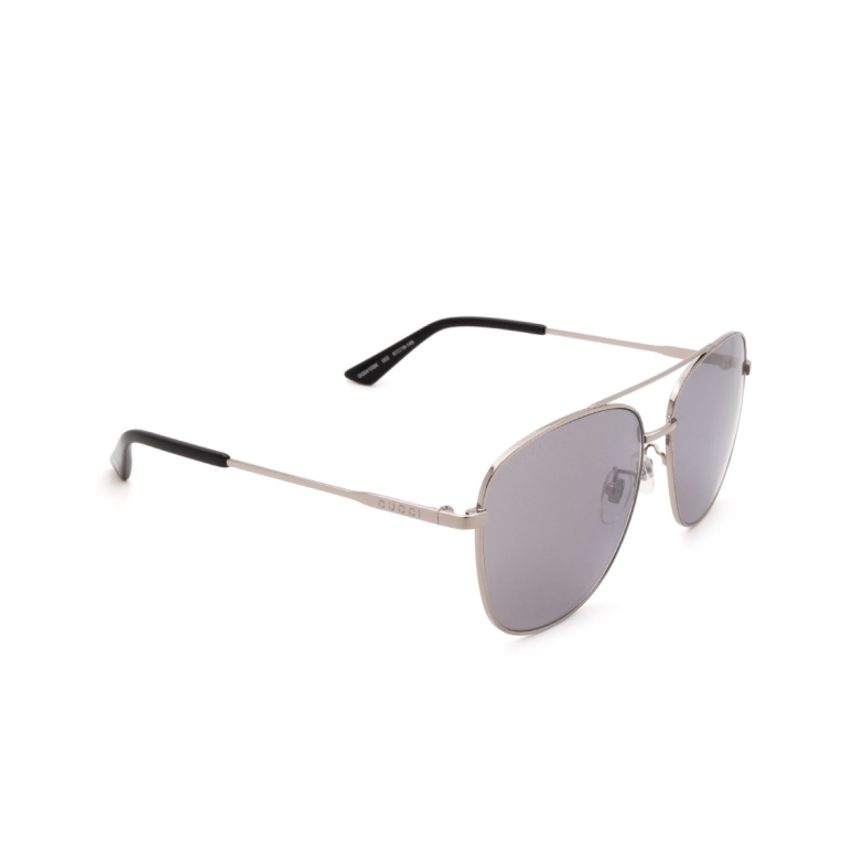 Gucci® Aviator Sunglasses: GG0410SK color Silver 002.