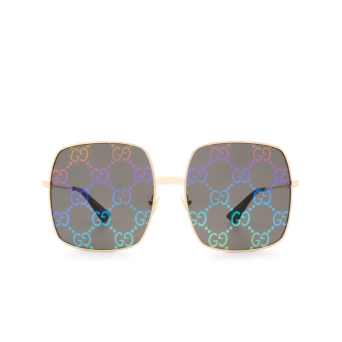 Gucci® Square Sunglasses: GG0414S color Gold 003.