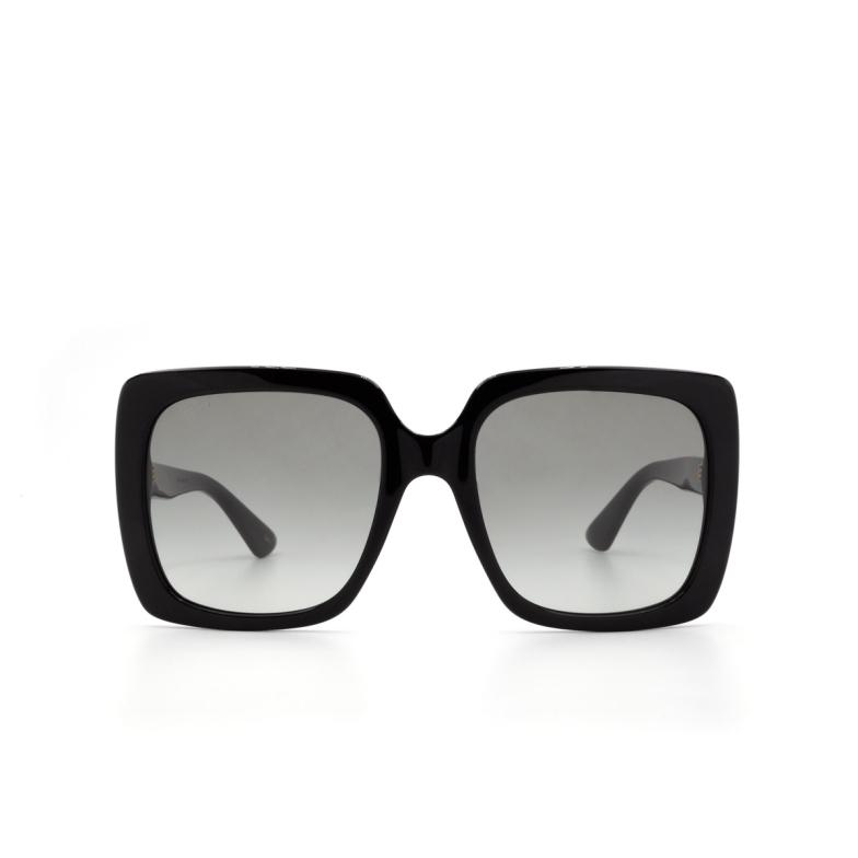 Gucci® Square Sunglasses: GG0418S color Black 001.