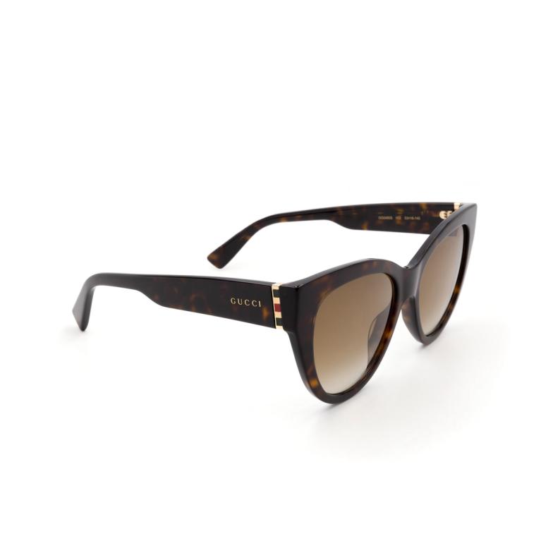 Gucci® Cat-eye Sunglasses: GG0460S color Havana 002.