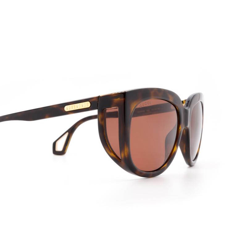 Gucci® Square Sunglasses: GG0468S color Havana 002.