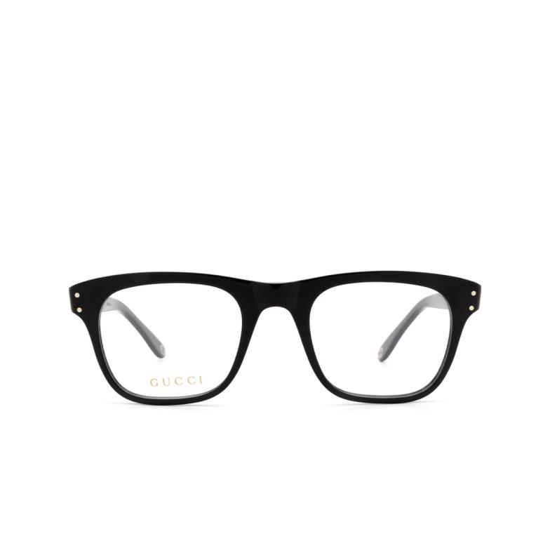 Gucci® Square Eyeglasses: GG0476O color Black 006.