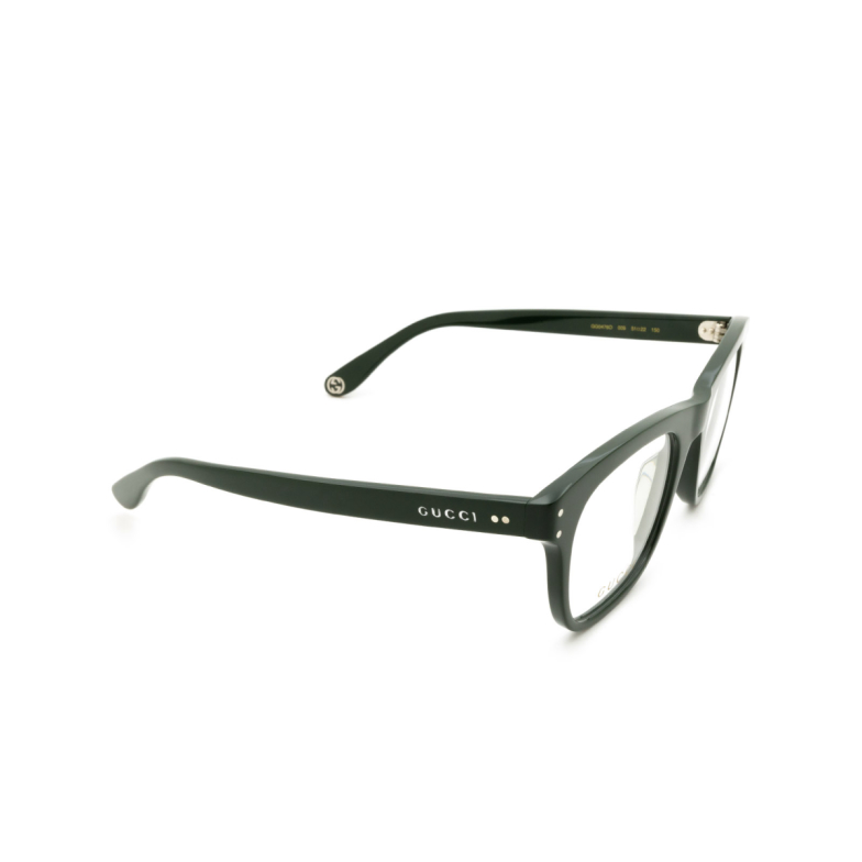 Gucci® Square Eyeglasses: GG0476O color Black 009.