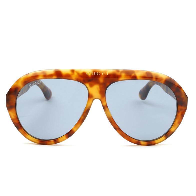 Gucci® Aviator Sunglasses: GG0479S color Havana 004.