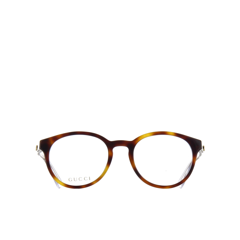 Gucci® Round Eyeglasses: GG0485O color Havana 003.