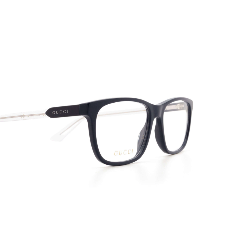 Gucci® Square Eyeglasses: GG0490O color Blue 009.