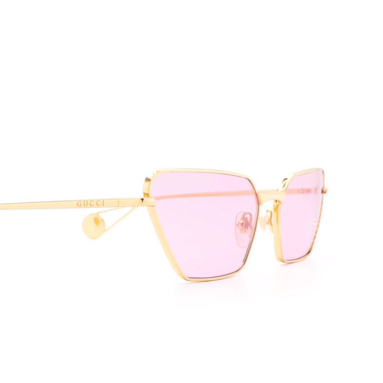 Gucci® Irregular Sunglasses: GG0538S color Gold 005.