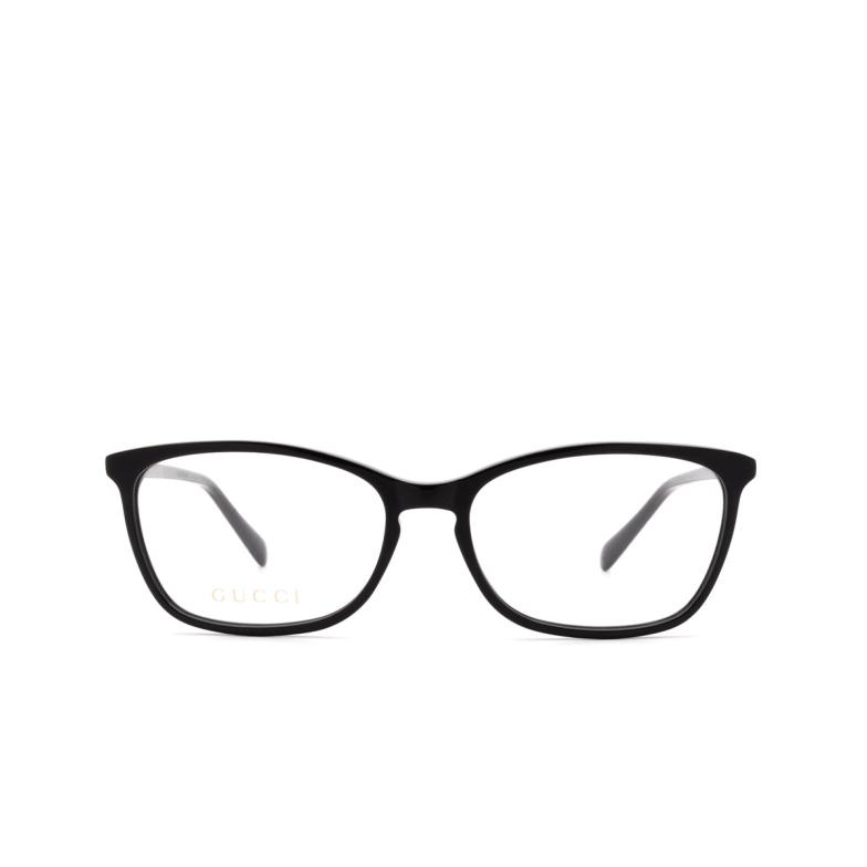 Gucci® Rectangle Eyeglasses: GG0548O color Black 001.