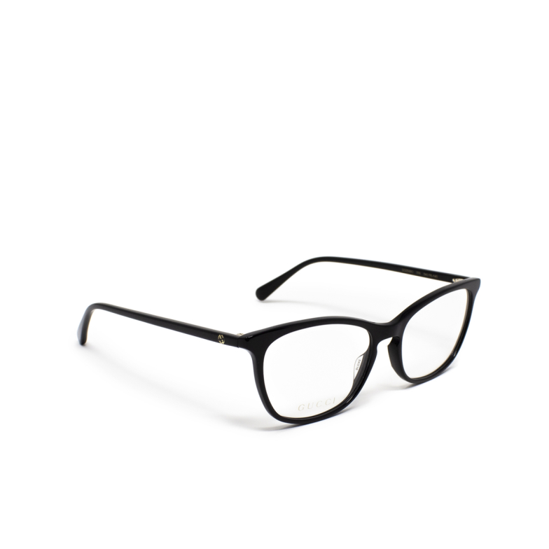 Gucci® Square Eyeglasses: GG0549O color Black 001.