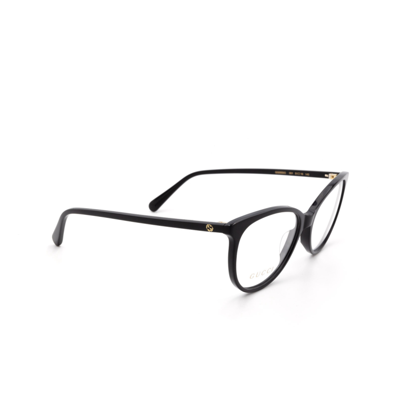 Gucci® Butterfly Eyeglasses: GG0550O color Black 001.