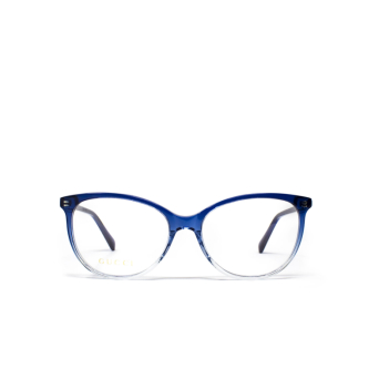Gucci® Butterfly Eyeglasses: GG0550O color Blue 004.