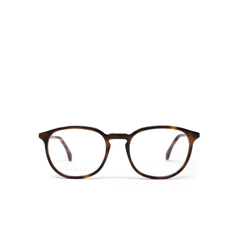 Gucci® Square Eyeglasses: GG0551O color Havana 007.
