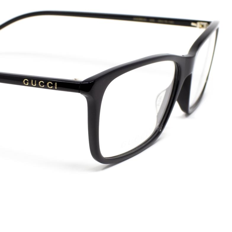 Gucci® Rectangle Eyeglasses: GG0553O color Black 001.