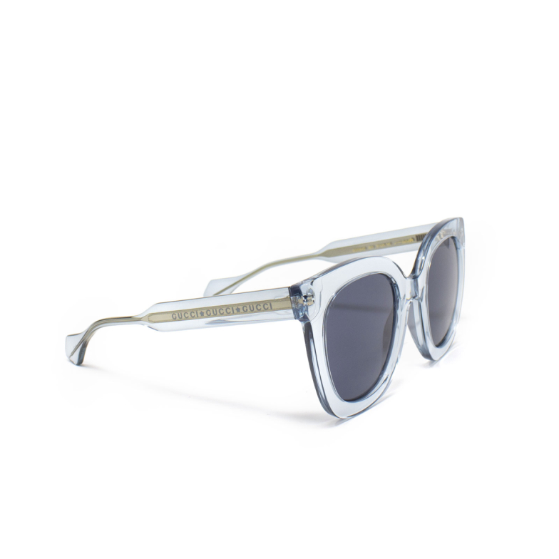 Gucci® Butterfly Sunglasses: GG0564S color Light Blue 003.