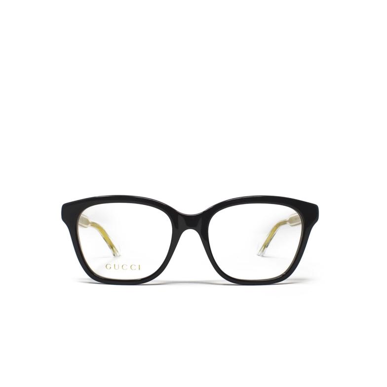 Gucci® Square Eyeglasses: GG0566O color Black 001.