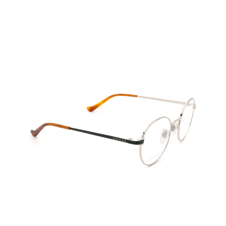 Gucci® Round Eyeglasses: GG0581O color Silver 004.