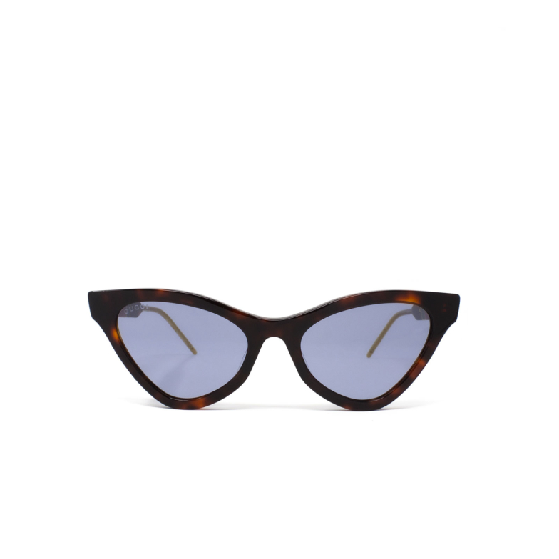 Gucci® Cat-eye Sunglasses: GG0597S color Havana 002.