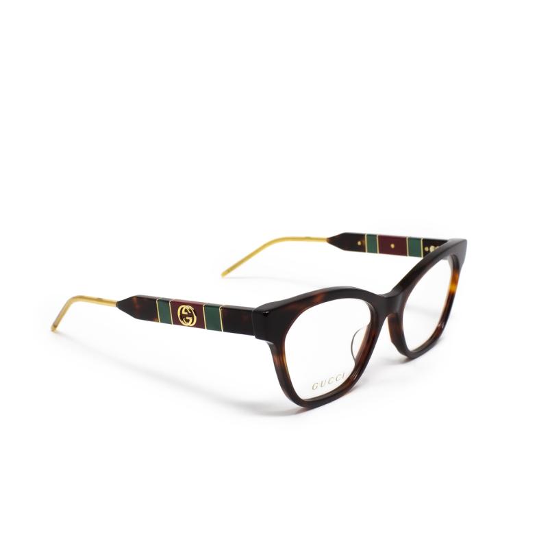 Gucci® Cat-eye Eyeglasses: GG0600O color Havana 002.