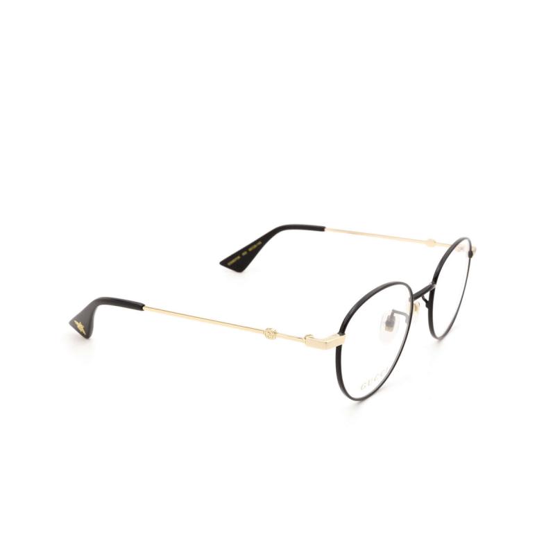 Gucci® Round Eyeglasses: GG0607OK color Black 003.