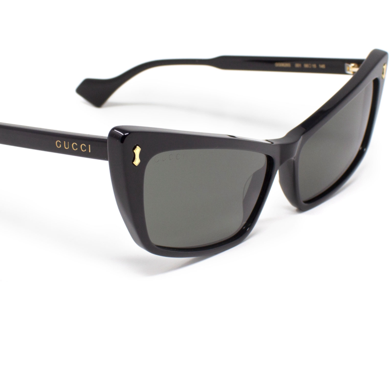 Gucci® Cat-eye Sunglasses: GG0626S color Black 001.