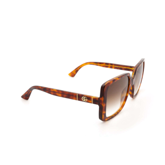 Gucci® Square Sunglasses: GG0632S color Havana 002.