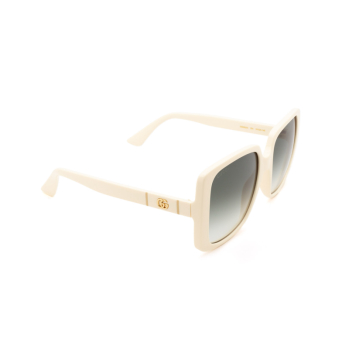 Gucci® Square Sunglasses: GG0632S color Ivory 004.