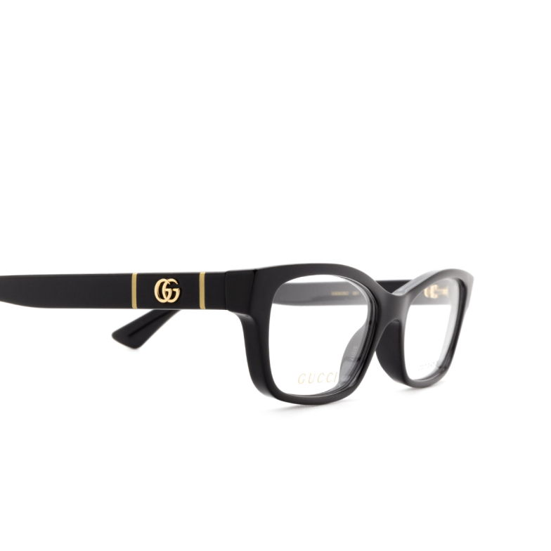 Gucci® Rectangle Eyeglasses: GG0635O color Black 001.