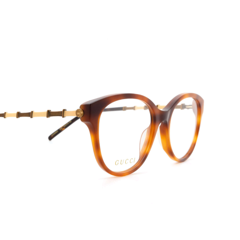 Gucci® Butterfly Eyeglasses: GG0656O color Havana 003.