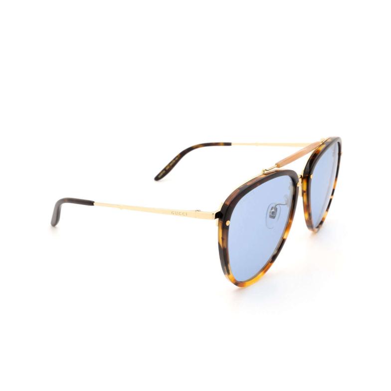 Gucci® Aviator Sunglasses: GG0672S color Havana 004.