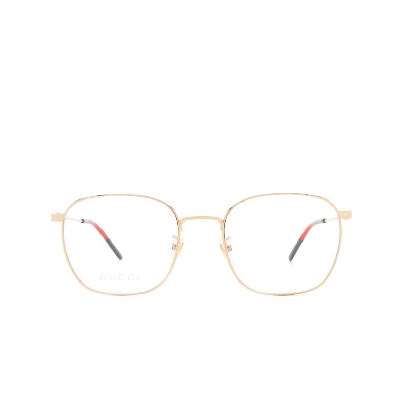 Gucci® Square Eyeglasses: GG0681O color Gold 001.