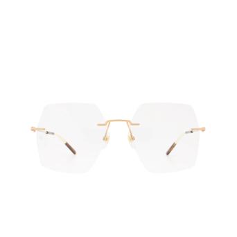 Gucci® Square Eyeglasses: GG0683O color Gold 001.