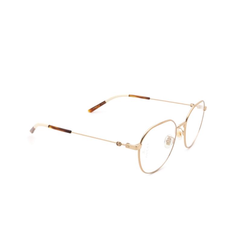 Gucci® Irregular Eyeglasses: GG0684O color Gold 001.