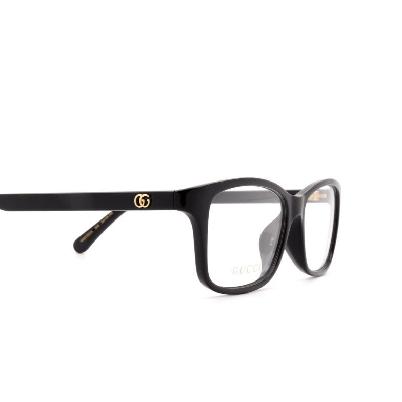 Gucci® Rectangle Eyeglasses: GG0720OA color Black 005.