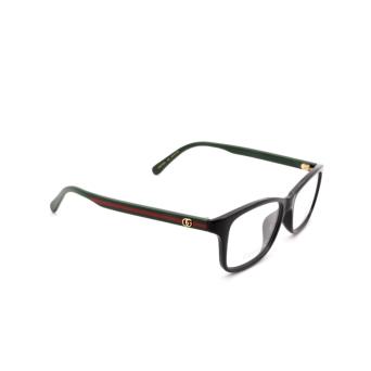Gucci® Rectangle Eyeglasses: GG0720OA color Black 006.