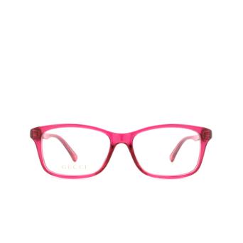 Gucci® Rectangle Eyeglasses: GG0720OA color Pink 008.