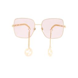 Gucci® Sunglasses: GG0724S color Gold 003.