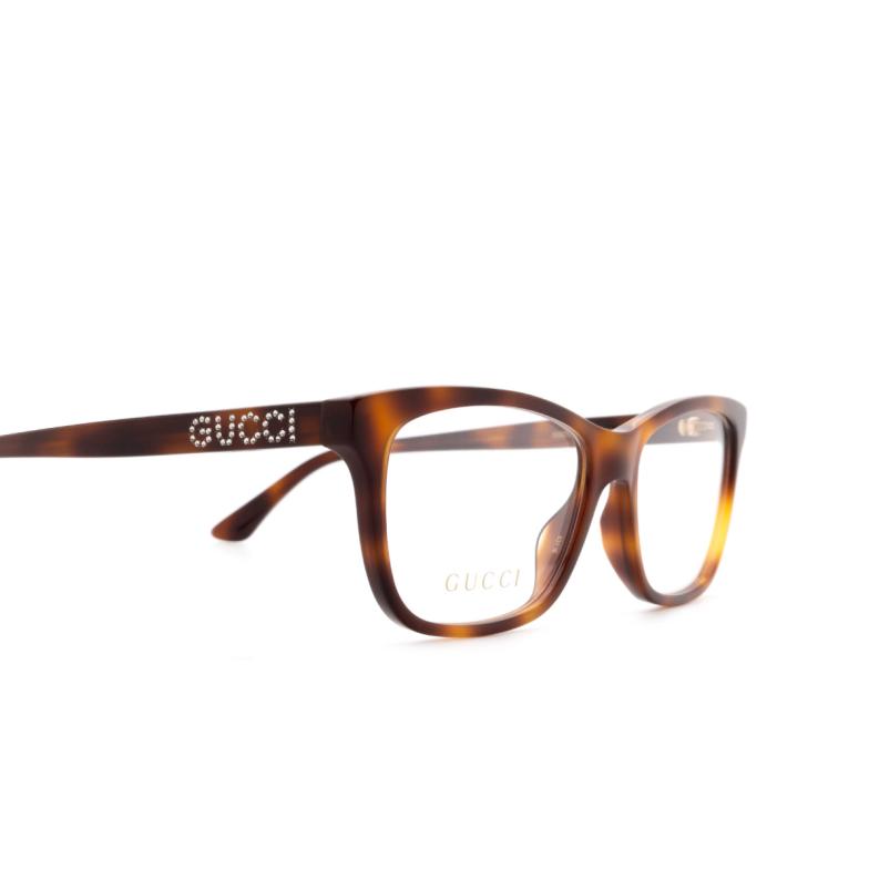 Gucci® Square Eyeglasses: GG0731O color Havana 002.