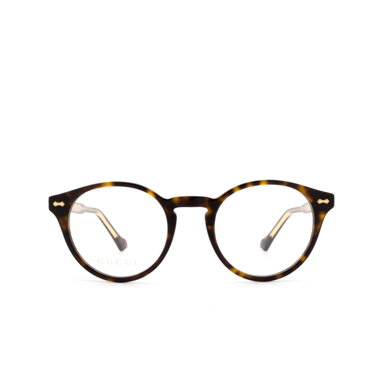 Gucci® Round Eyeglasses: GG0738O color Havana 002.