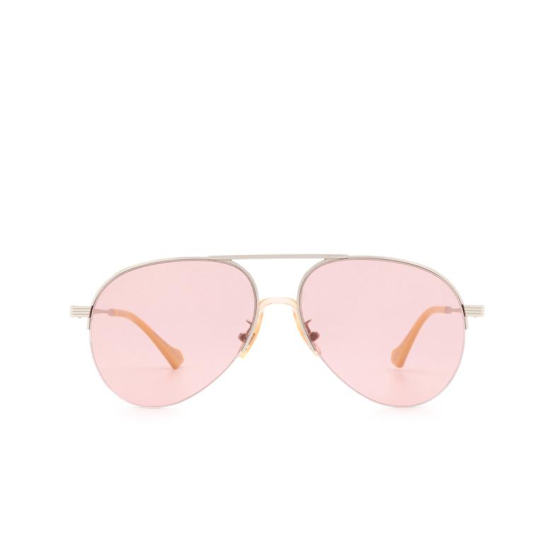 Gucci® Aviator Sunglasses: GG0742S color Silver 003.