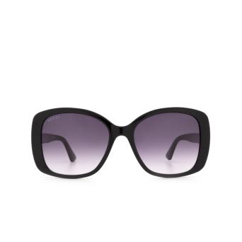 Gucci® Butterfly Sunglasses: GG0762S color Black 001.