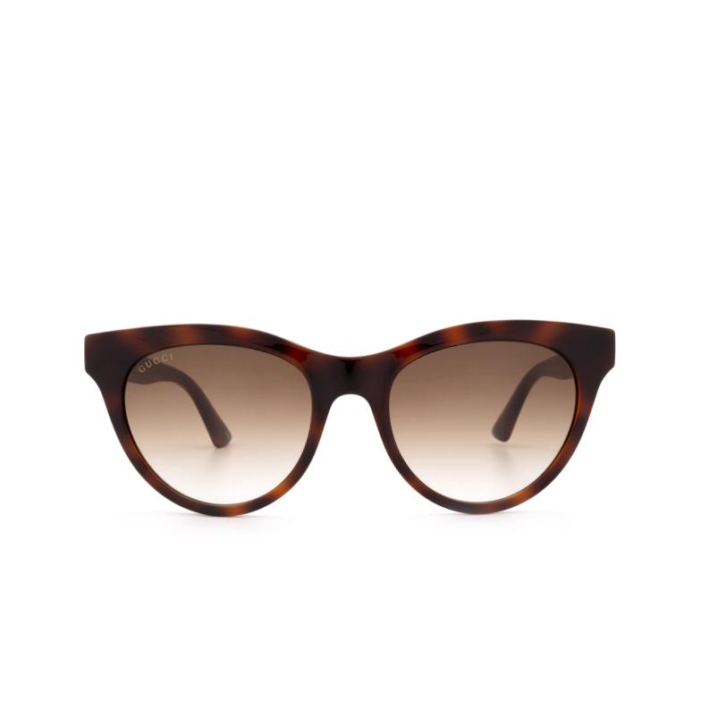 Gucci® Cat-eye Sunglasses: GG0763S color Havana 002.