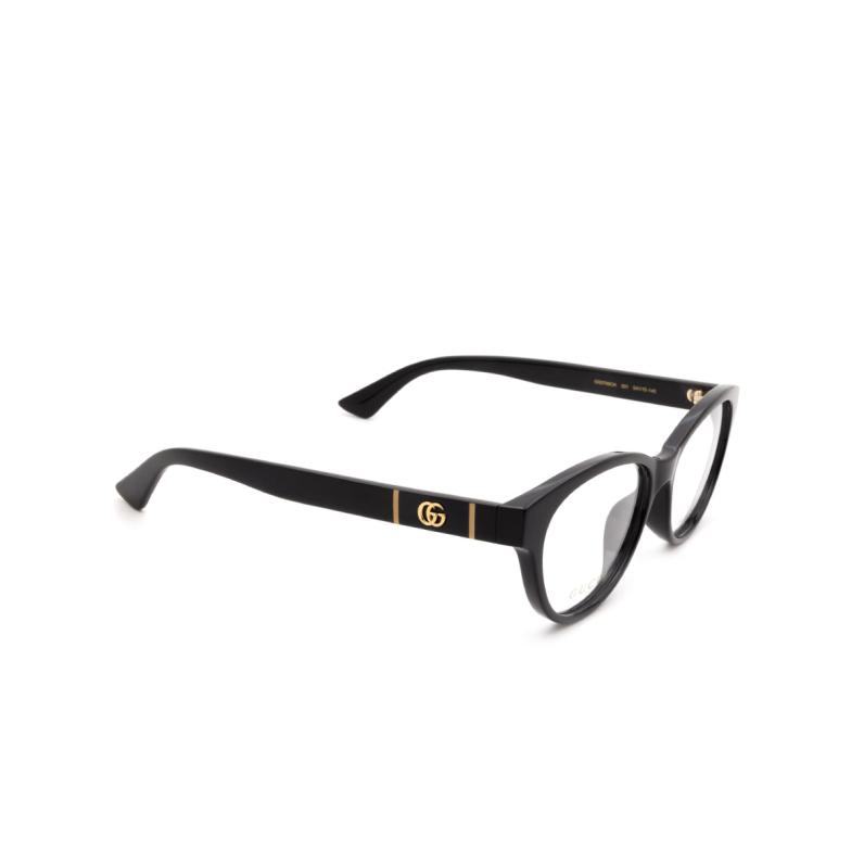 Gucci® Cat-eye Eyeglasses: GG0766OA color Black 001.