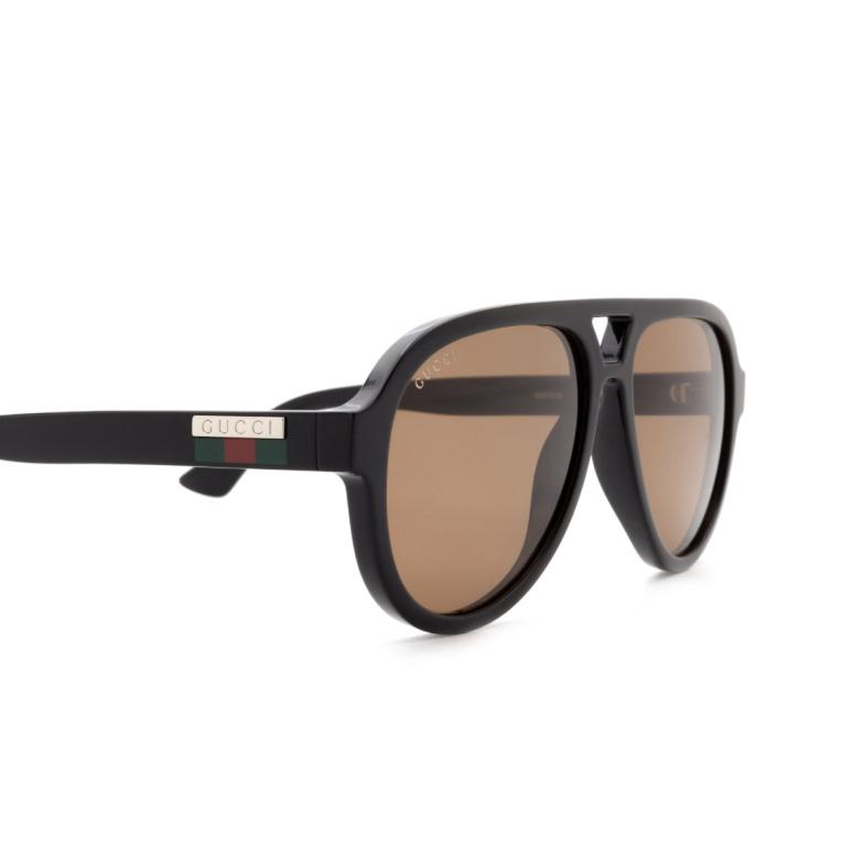 Gucci® Aviator Sunglasses: GG0767S color Black 002.