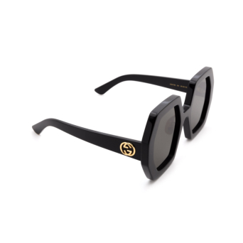 Gucci® Irregular Sunglasses: GG0772S color Black 004.