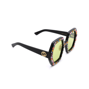 Gucci® Irregular Sunglasses: GG0772S color Black 010.