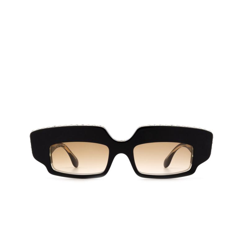 Gucci® Rectangle Sunglasses: GG0782S color Black 001.