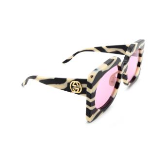 Gucci® Butterfly Sunglasses: GG0784S color Black 003.
