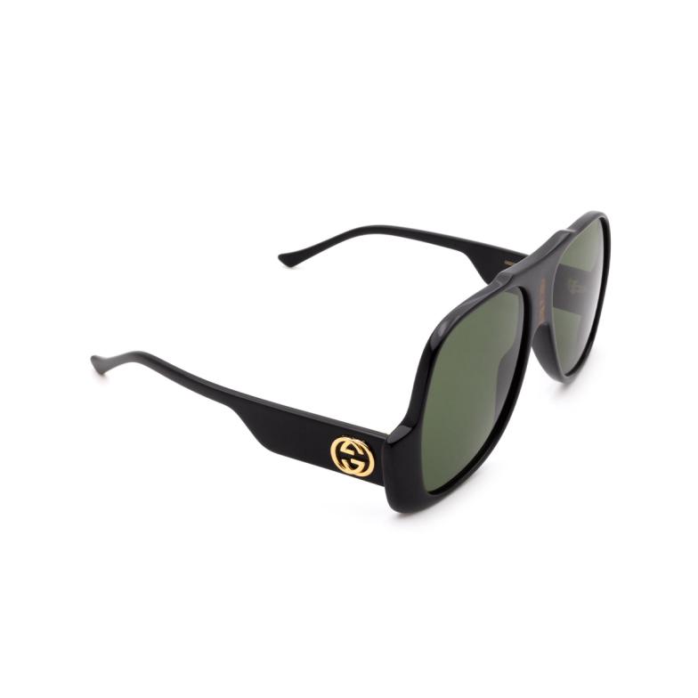 Gucci® Aviator Sunglasses: GG0785S color Black 001.